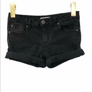 Copper Key black denim shorts size 12 stretchy
